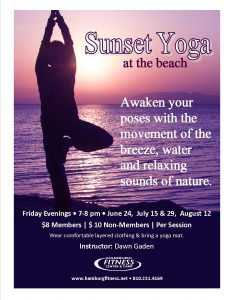 sunset yoga classes flyer