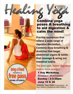 healing yoga flyer