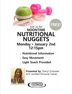 nutritional promo flyer