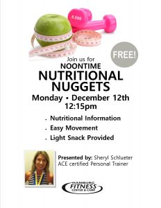 nutritional nuggets promo flyer