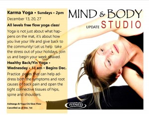 yoga studio update flyer